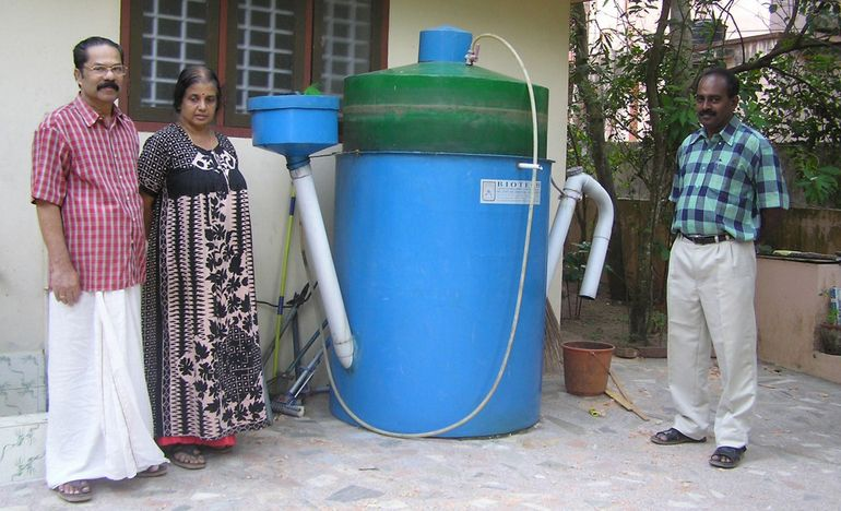Small scale biogas design for domestic applications