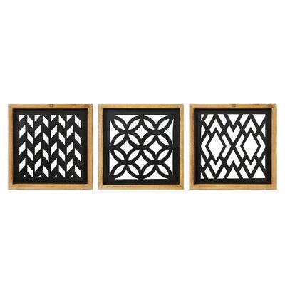 Decmode 3 Piece Wooden Wall Plaque 14318 Wood Wall Plaques