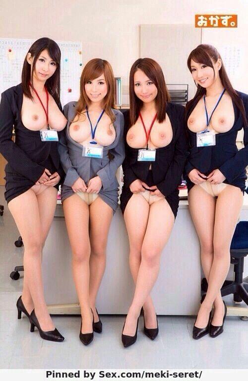 Japanese nude office girl