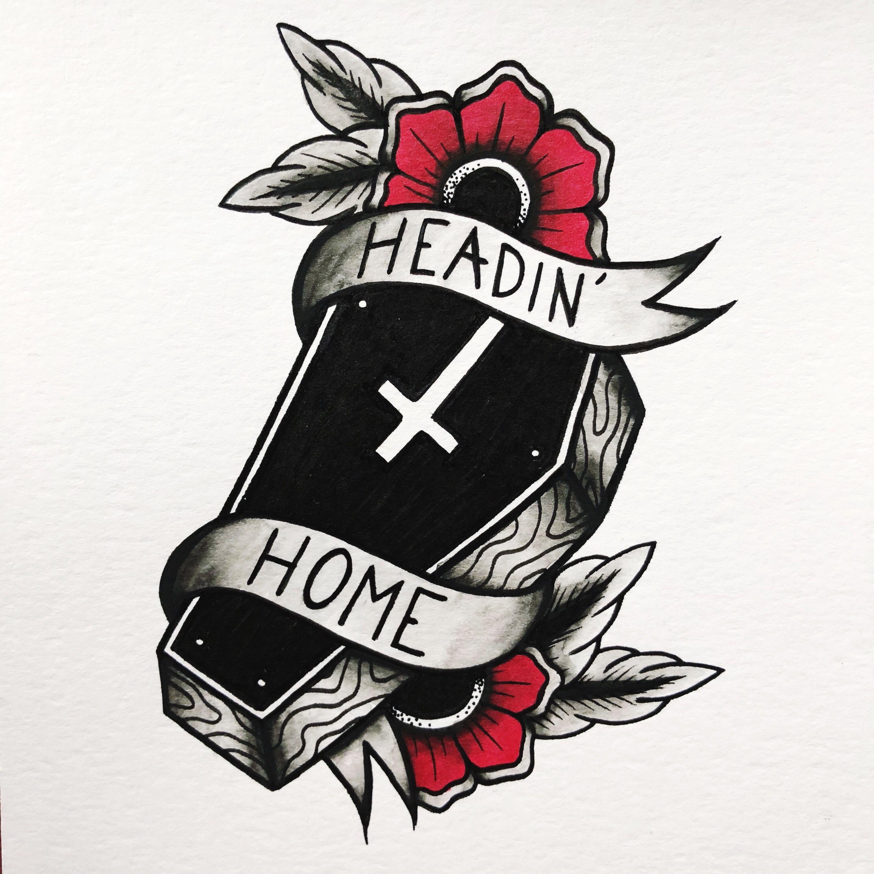 Pin By Sebastian On Tattoos Coffin Tattoo Drawings Gothic Tattoo