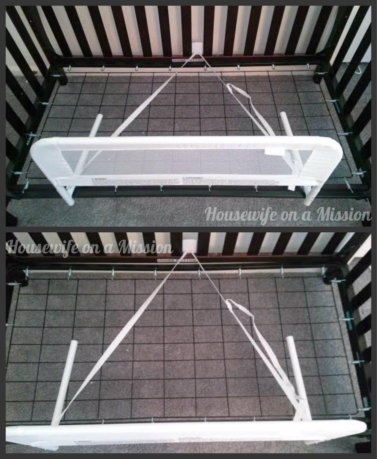 KidCos Convertible Crib Mesh Bed Rail