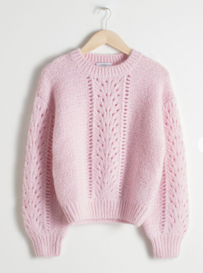 162557da3 Eyelet Knit Sweater