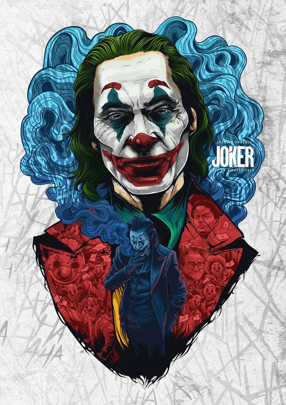 Joker Damaged Tattoo Png: Joker Art, Joker Drawings