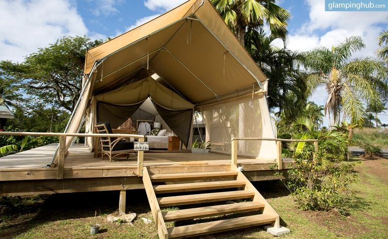 Tropical Tents With Upscale Amenities In Rarotonga Cook Islands