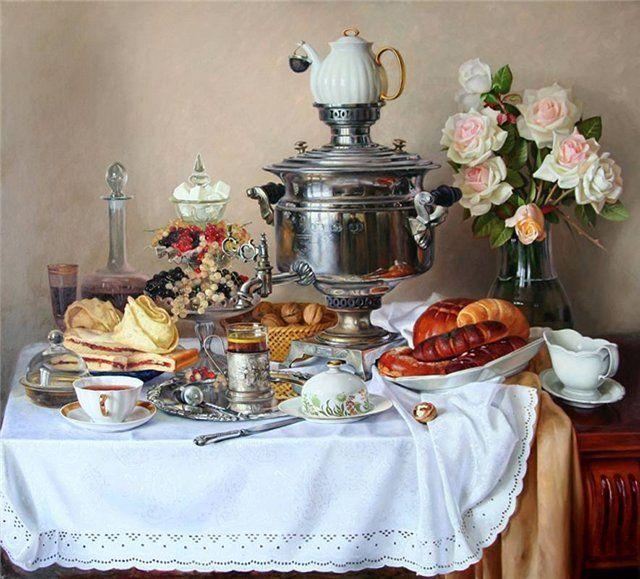 russian style for tea time russian samovar pinterest russland teeparty und fr hst ck. Black Bedroom Furniture Sets. Home Design Ideas
