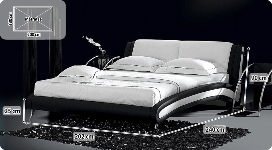 Nett bett 180x200 komplett mit lattenrost und matratze Deutsche - einrichtungsideen schlafzimmer betten roche bobois