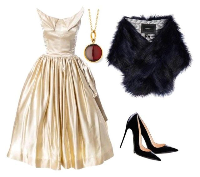 """""""Winter wedding"""" by kittygabhart ❤ liked on Polyvore featuring Unreal Fur and Syna"""