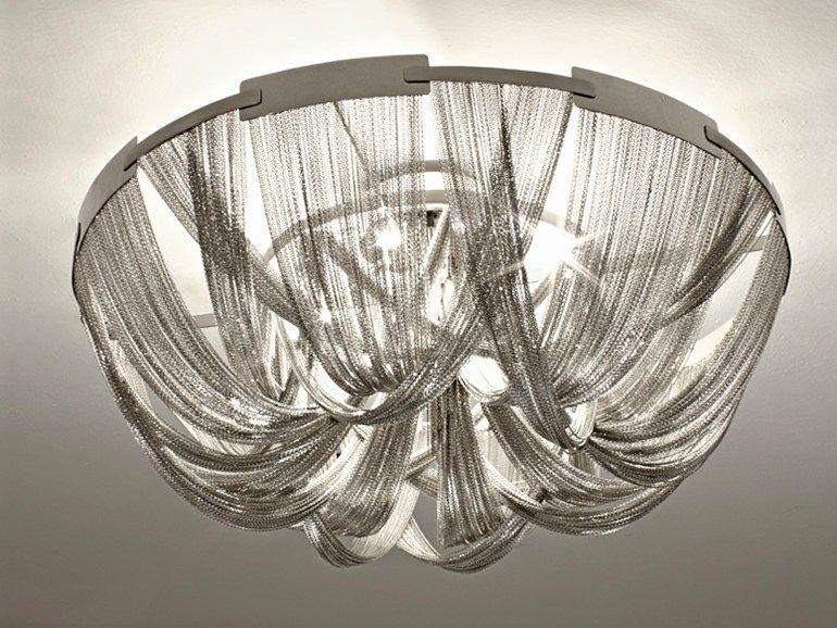Lampada da soffitto alogena in metallo collezione soscik by