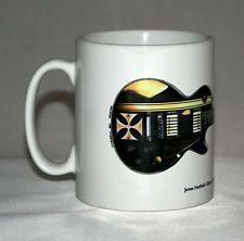 Guitar Mug. James Hetfield's Gibson Les Paul Iron Cross illustration.
