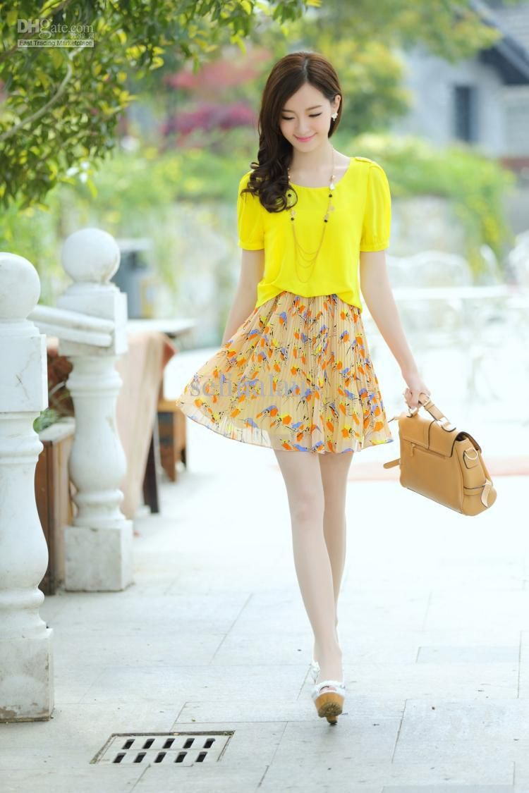 New Korean Fashion Dress For Summer 2013 Cute Chiffon