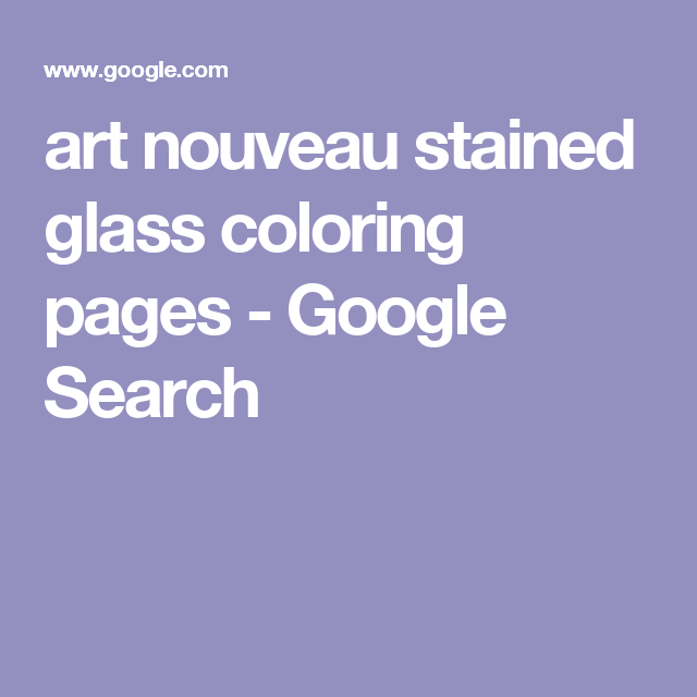 art nouveau stained glass coloring pages Google Search