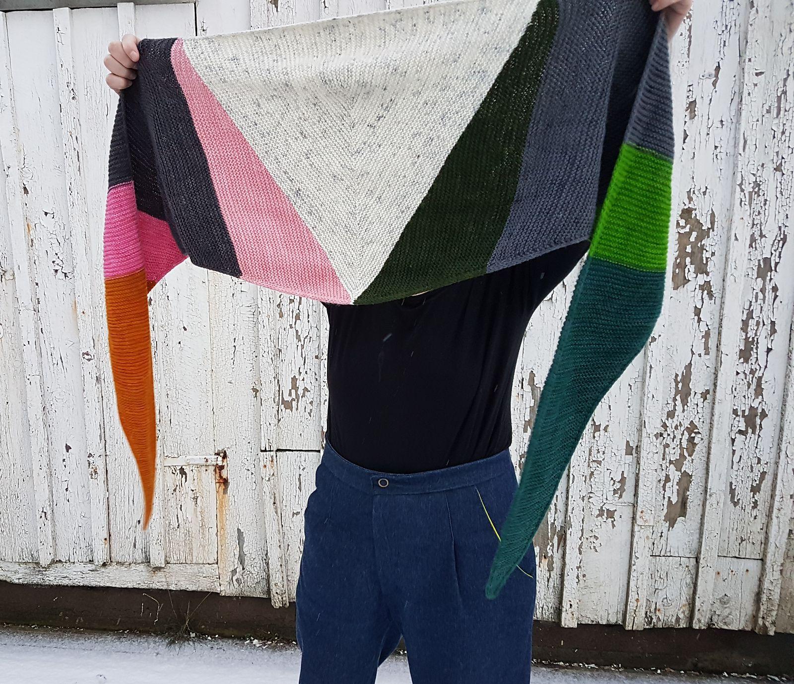 Python Shawl pattern by Emilia Jensen | Knitting | Shawl