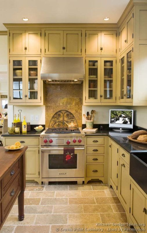 Victorian Kitchens Cabinets Design Ideas And Pictures Victorian Kitchen Cabinets Yellow Kitchen Cabinets Kitchen Design