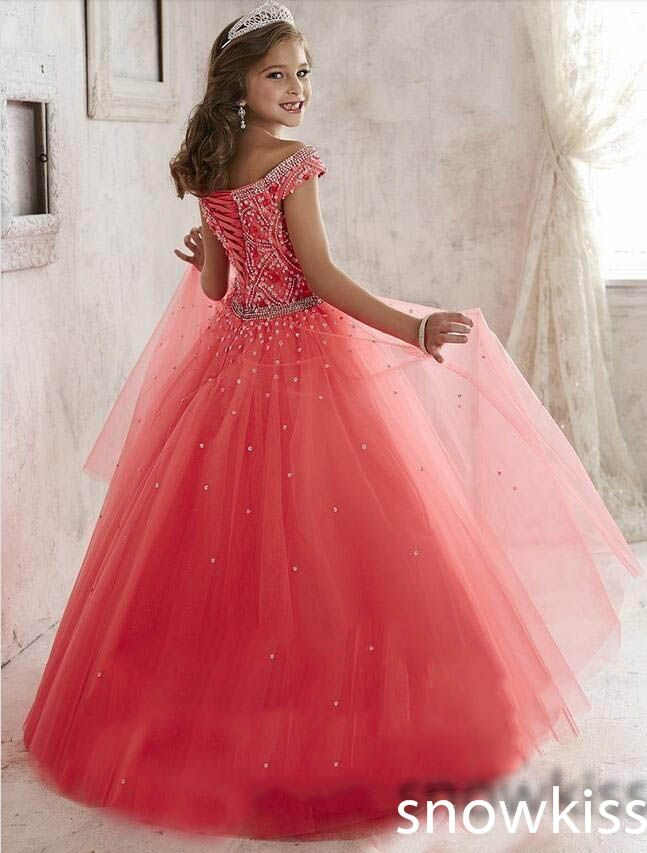 New Princess beading crystals glitz party pageant dress for juniors ...