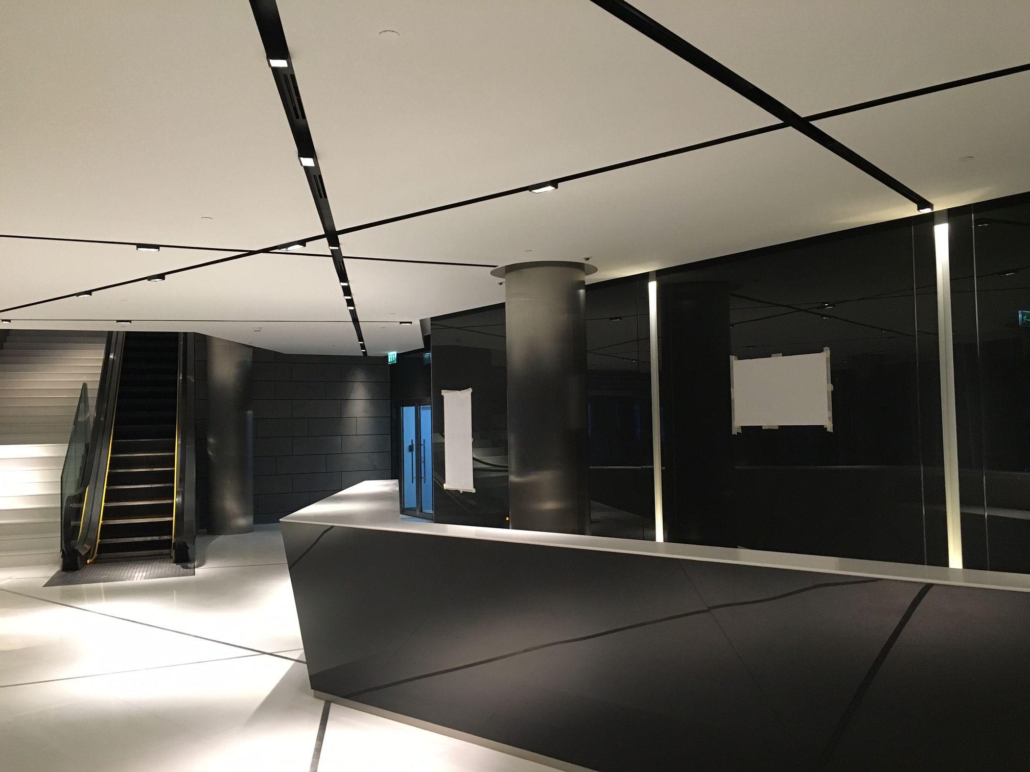 kreon lighting. Crossed Kreon Prologe In-Dolma Lighting Profile With Integrated Ventilation Slots. G