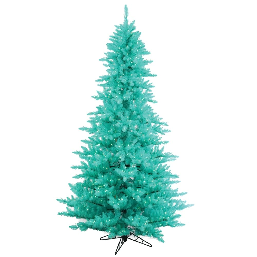 vickerman aqua plastic 3 foot fir artificial christmas tree with