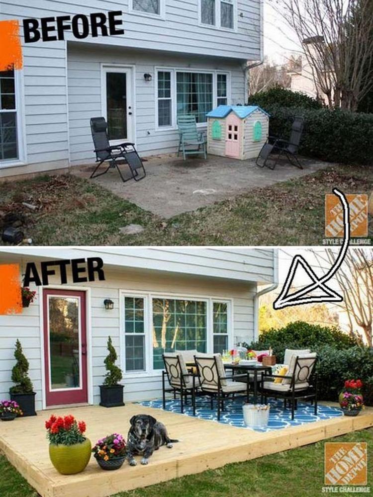 Building A Patio Fire Pit On Concrete: Unusual Small Backyard Ideas