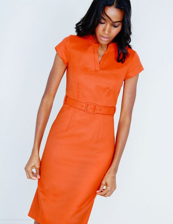 Great Office Outfit Dress For Work How To Wear Orange To Office