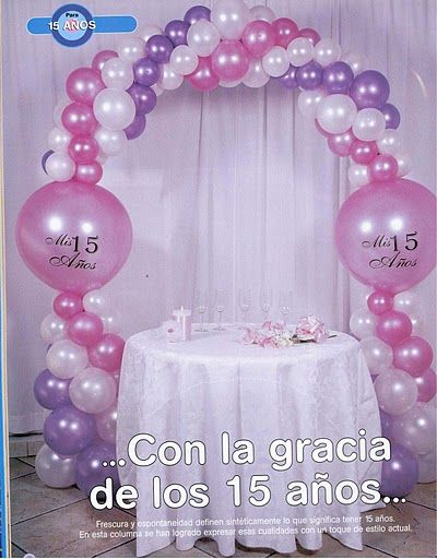 Compartiendo con mis amigas decoraci n con globos for Decoracion con globos 50 anos