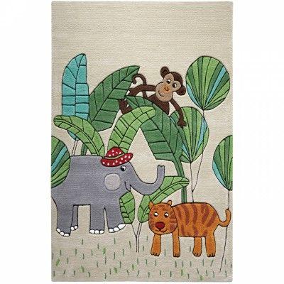Tapis Jungle Friends 150 X 220 Cm Kids Rugs Childrens Rugs Rugs