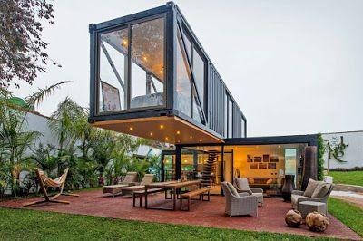 Casas construidas con contenedores mar timos container for Wohnung design studium
