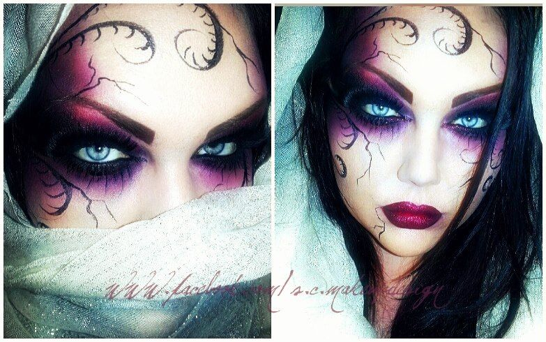 light lines as opposed to the dark lines and this could be my makeup scheme