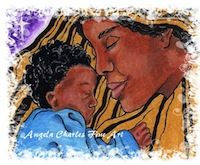 Mother and Child by Angela Charles Acrylic on canvas