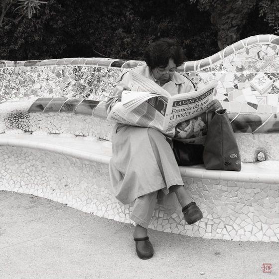 Noticias de Francia. Park Güell, Barcelona 2002.