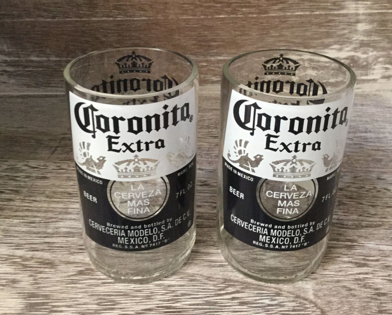 Coronita glasses repurposed/upcycled. by Bottleford on Etsy