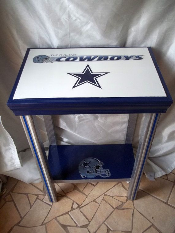 Dallas Cowboys Inspired Sports Table, NFL, Football, Man Cave Decor, End  Table