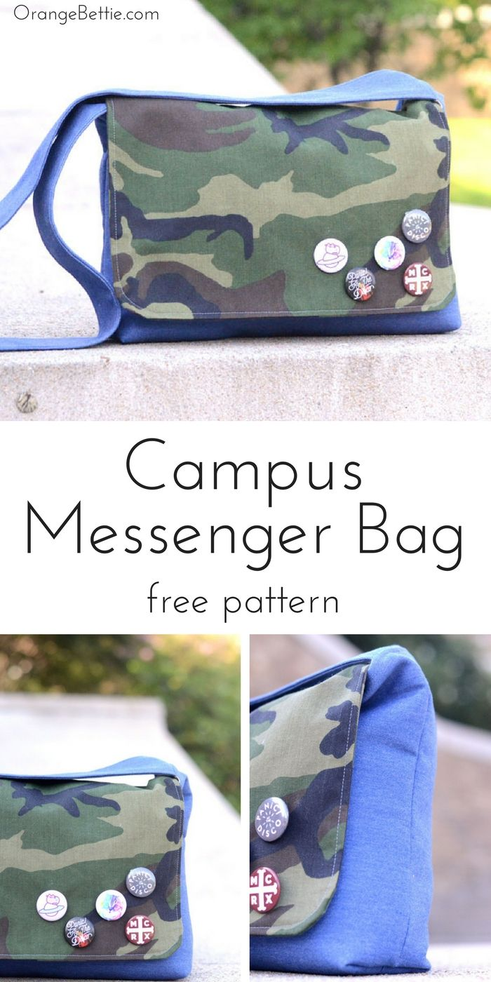 Campus Messenger Bag - Tutorial | DIY Creatives | Pinterest | Bolsos ...