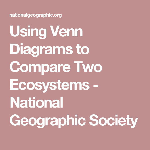 using venn diagrams to compare two ecosystems national geographic rh pinterest com