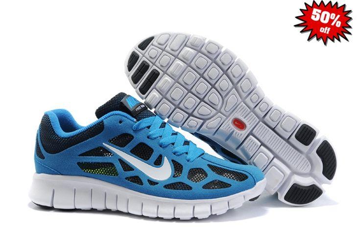 newest d7d6e 49c92 WEXS 2014 Chaussure Nike Free Run 3 Breathable Mesh Bleu Femme 747846