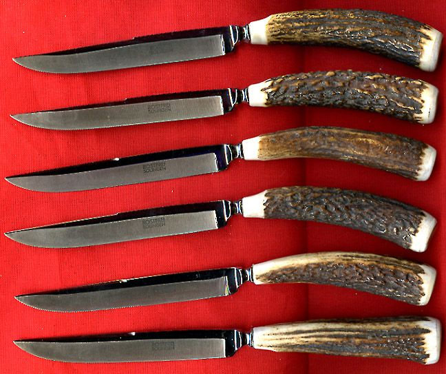 Antler handle steak knives altered antlers pinterest for Ancienne maison knives