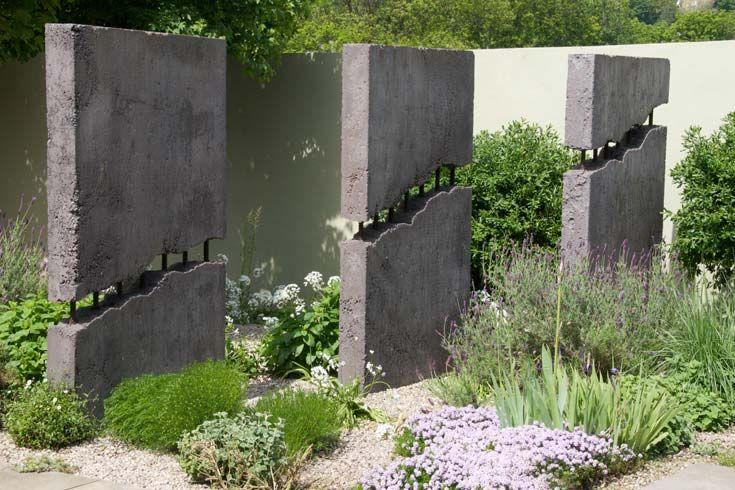 Exceptional Cleve West, Landscape Design, Garden Designer, Award Winning, Saga,  Lesbotta, Concrete Sculpture, Gravel, Herbs
