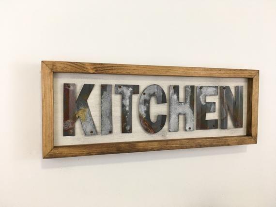 Farmhouse Kitchen Sign, Kitchen Decor, Kitchen Sign, Metal ...