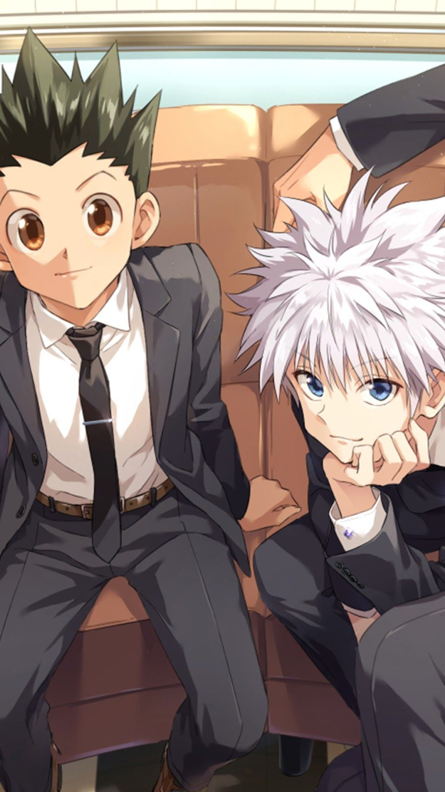 The picture taken from wallpaper abyss i only added effects using wallpaper engine. Hunter X Hunter Boys Mobile Wallpaper Gon Freecss Killua ...
