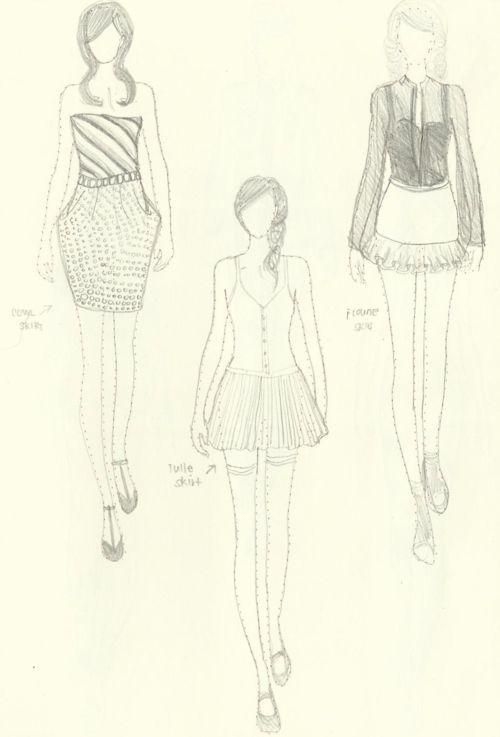 Fashion Sketches How 2 Draw Fashion Fashion