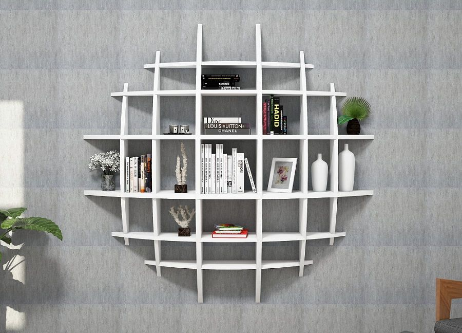 Wall Storage Unit Decoration Design