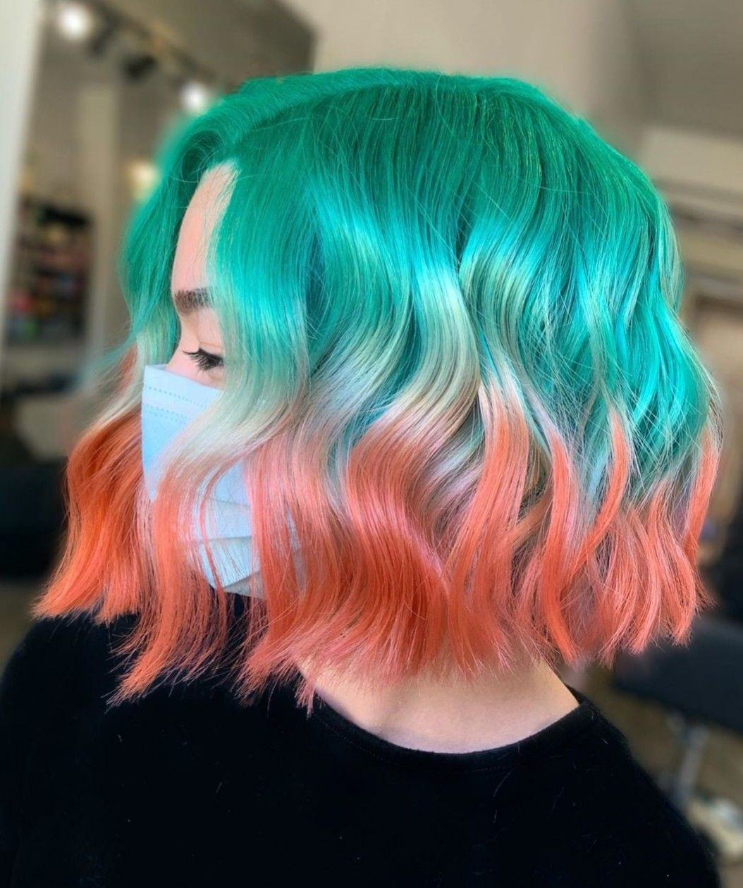 Pin By Kora 3923 On Hair Color Dyed Hair Hair Styles Split Dyed Hair