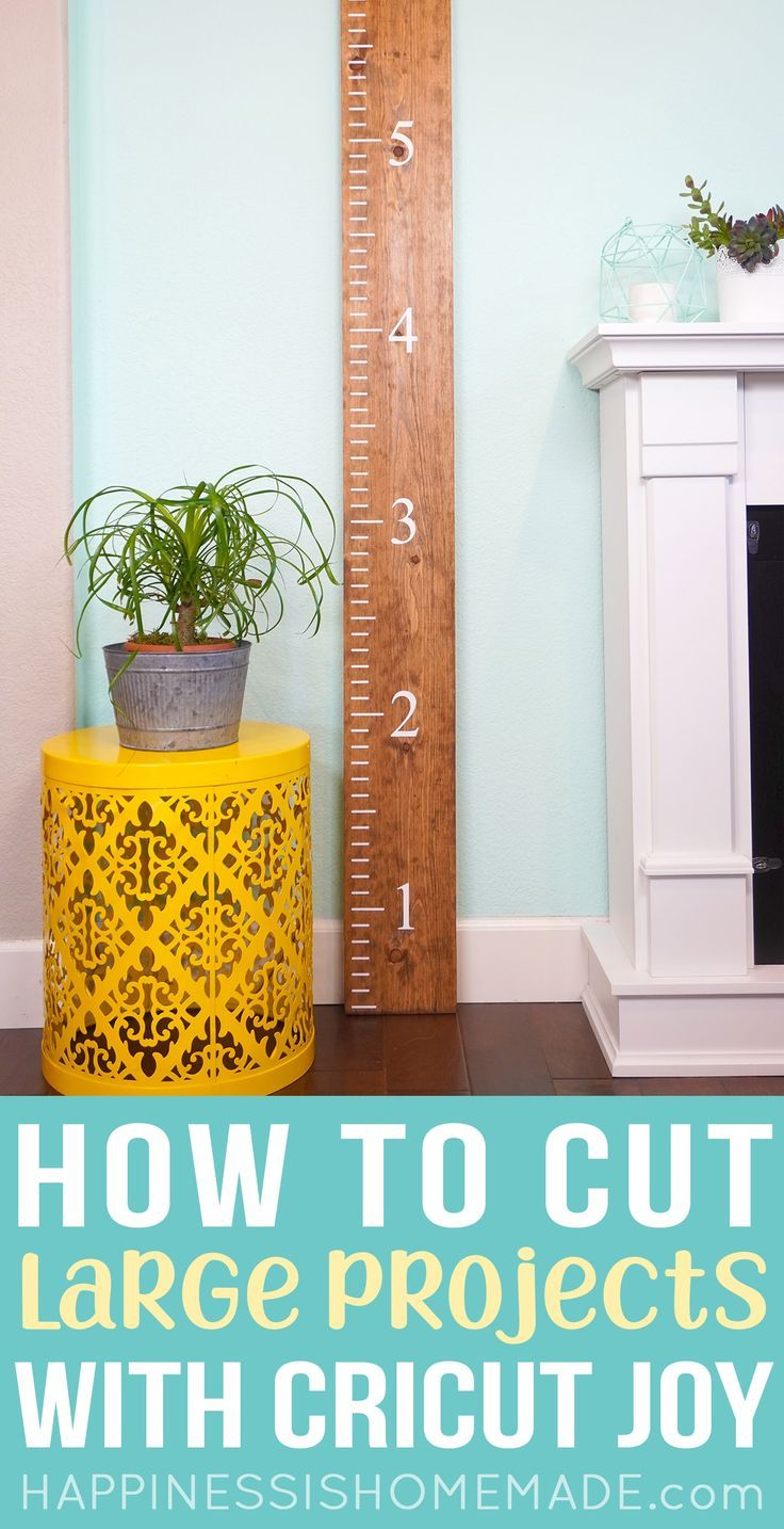 Make this awesome DIY wooden ruler growth chart using our