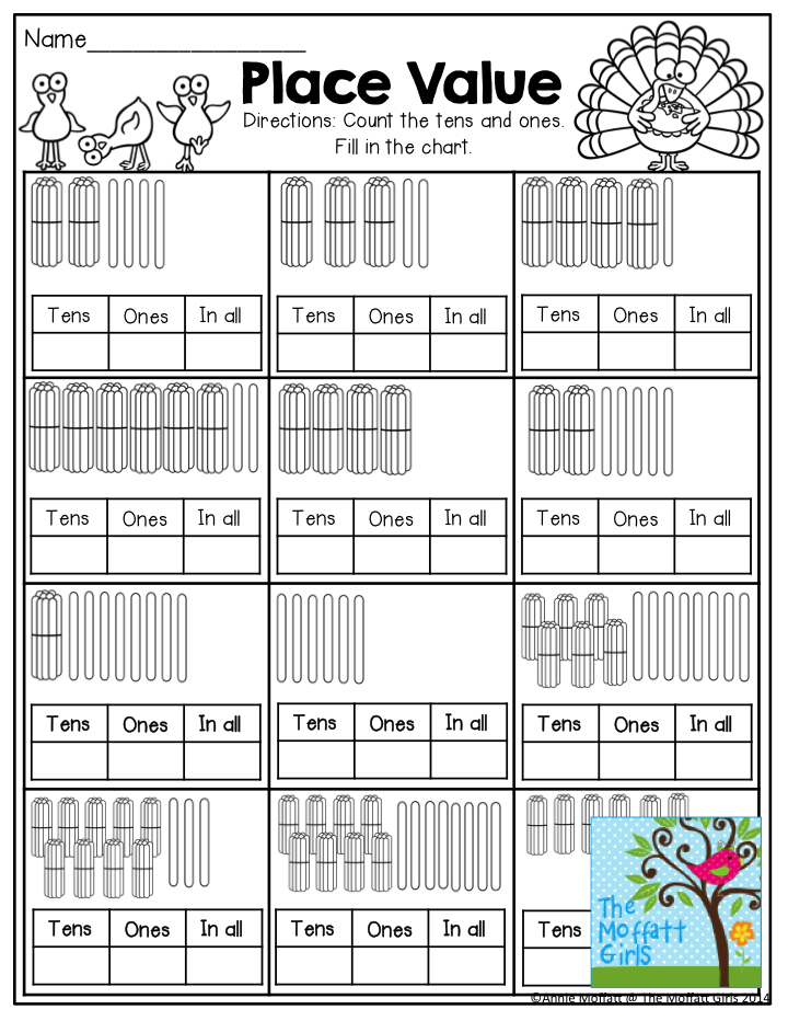 place value fill in the tens ones and in all boxes by counting each set of popsicle sticks. Black Bedroom Furniture Sets. Home Design Ideas