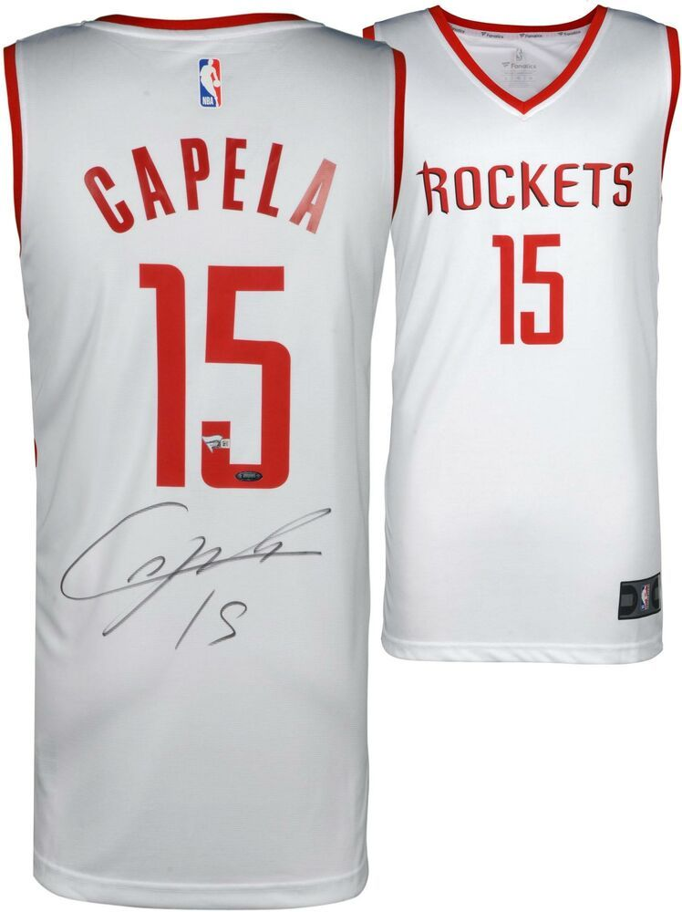 1573ce63135 Clint Capela Houston Rockets Autographed Fanatics White Fastbreak Jersey   sportsmemorabilia  autograph  basketballjersey