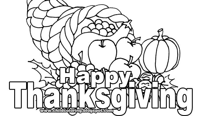 thanksgiving holiday coloring pages - photo#29