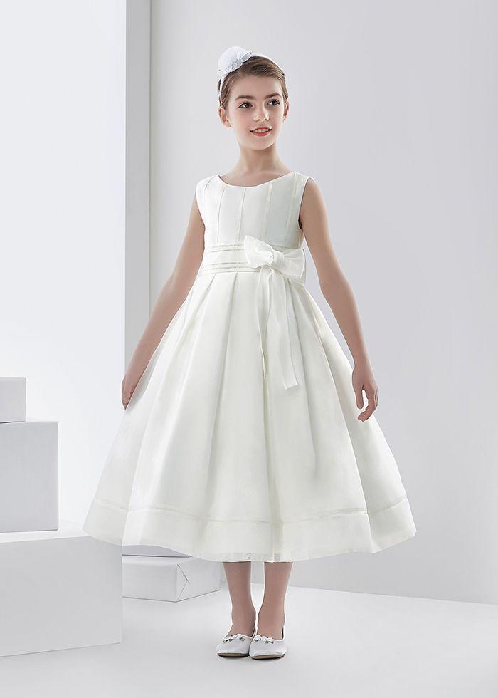 af6abf5ed50 Nectarean Ball Gown Sleeveless Bow(s) Tea-length Communion Dresses ...