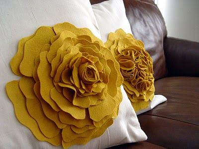 Pillows with flowers