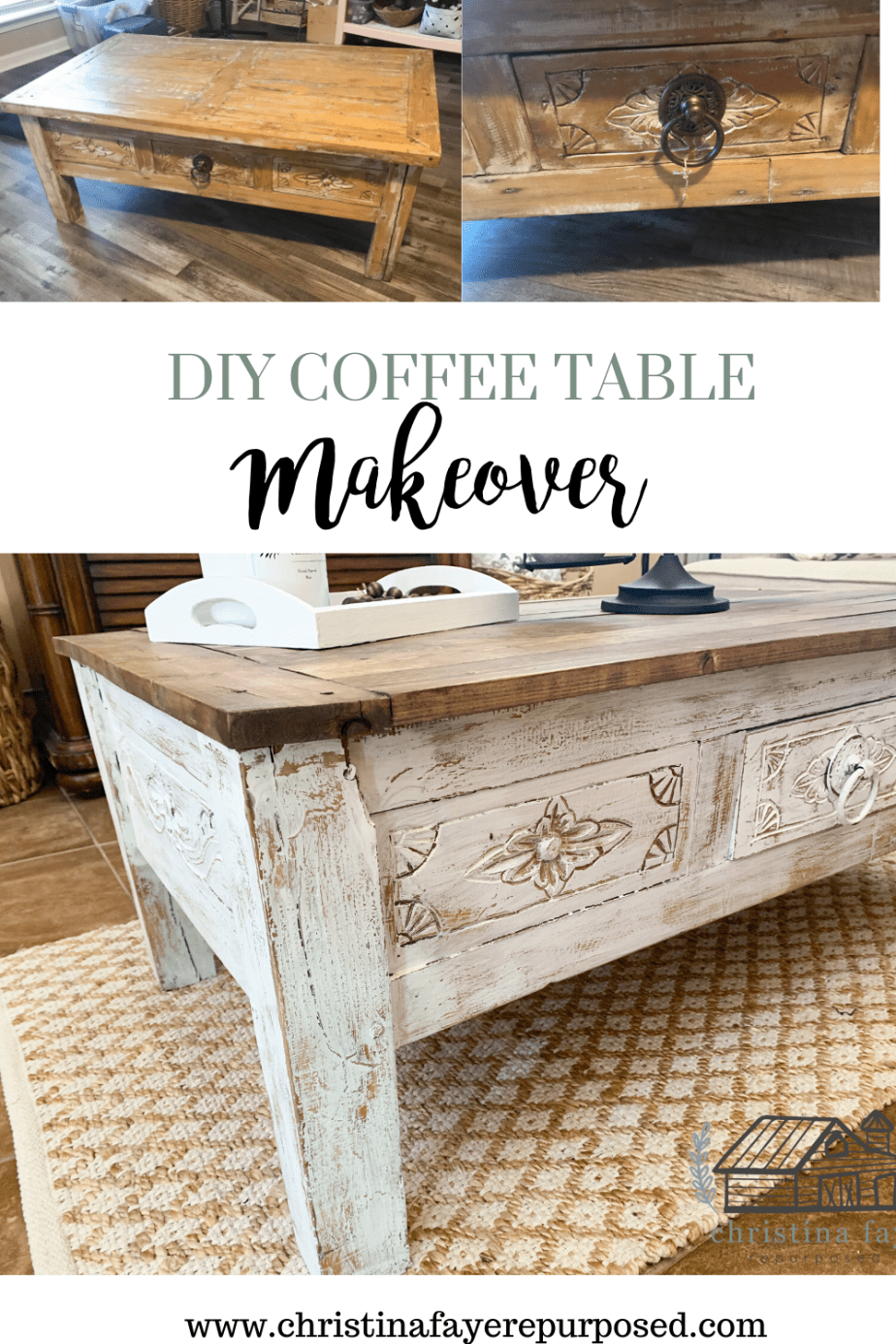 Diy Coffee Table Makeover Coffee Table Makeover Diy Coffee Table Table Makeover [ 1386 x 924 Pixel ]