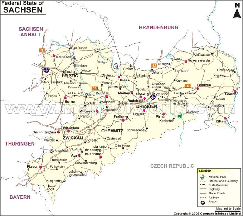 Sachsen Map | Germany Maps | Pinterest