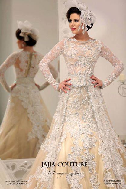 2015 Luxury Mid East Champagne Make Custom Jajja Couture Arabi
