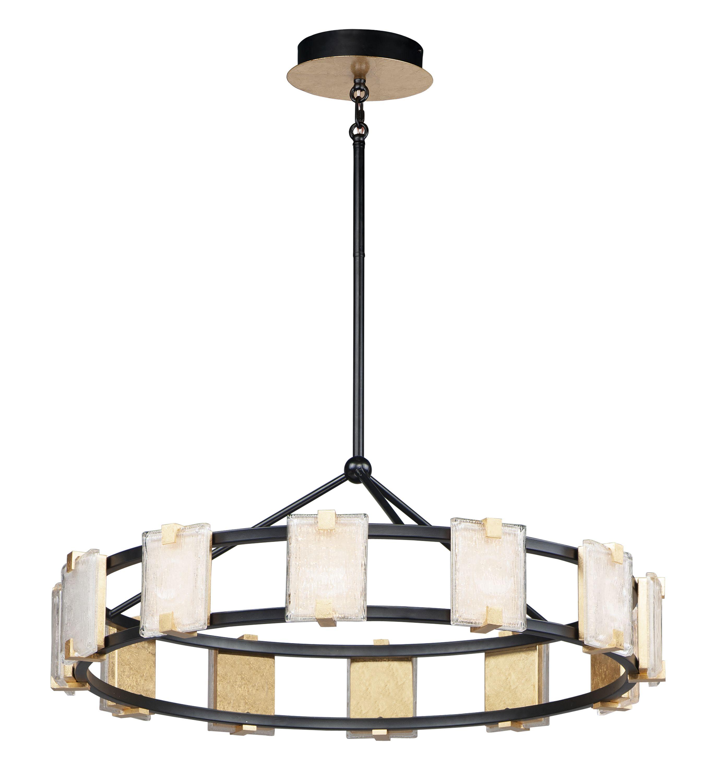 Maxim Lighting Radiant 14 Led 12 Light Chandelier In Black Gold